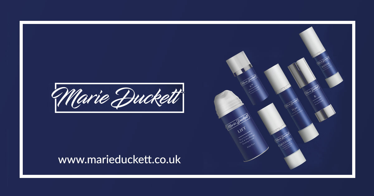 Marie Duckett Professional Skincare Product Range social share image